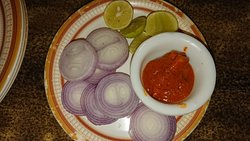 pickles and onion