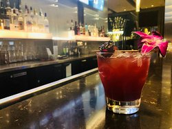 """WILD HIBISCUS """"Wild and fancy free, with floral tropical flavors"""" Hibiscus Infused Vodka, Passionfruit, Pineapple, Lime, Aperol"""