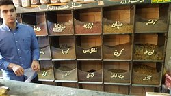 Buying spices in the local markets.