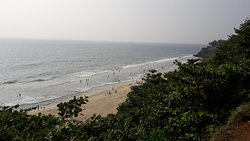Beach view from the cliff top.