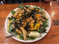 Calamari with mango