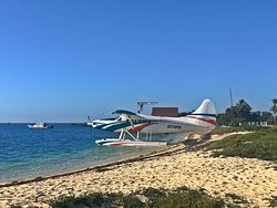 The seaplane at Dry Tortugas National Park.