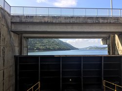 Beautiful view with the dam