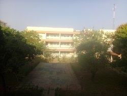 This is the view of the backside of the reception and the main building from my room