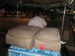 On arrive tout de même a poser toutes nos valises!