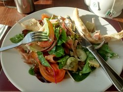 Chicken, bacon and avocado salad - generous and good leafy salad selection