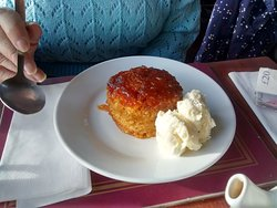 Sticky toffee pudding and vanilla ice cream, they don't skimp on the portions!
