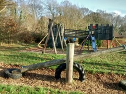 Play area and big field nearby, perfect for when its warmer and you want to sit outside and let the kids play
