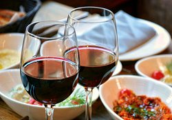 Red wine is the perfect paring with a feast!