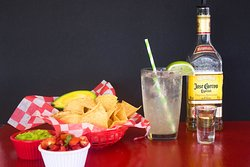 Chips, salsa and a margarita