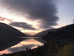 Beautiful sunset over Loch Lomond.