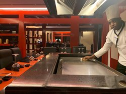 The Wok is Asian cuisine heaven with options for outdoor seating or an indoor HIbachi show. It's located on the bottom floor of the Castle near the spa.