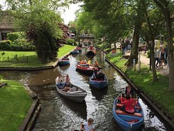 Giethoorn, nicknames 'Venice of the North' is a lovely town, which is best explored with a canal cruise.