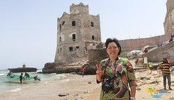 Masayo at Mogadishu light house