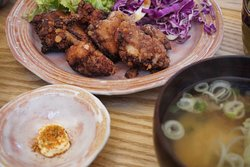 Japanese home meals : Karaage (fried chicken)