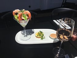 Wednesday arvo, casual rose and prawn cocktail in the sun...Morell styles #ourhappyplace #rose #prawncocktail #happyhour #yourlocalbistro #neighbourhood #remuera #aucklandeats #aucklandfoodie