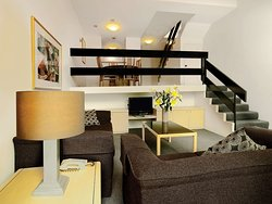 medina north ryde serviced apartment hotel loft apartment lounge room