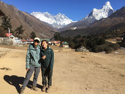 The Singaporean trekkers at Tengboche Monastery on the way to Everest Base Camp.