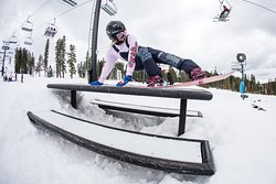 Learning new picnic table tricks at Woodward Tahoe weekend camp. April 2018.