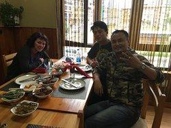 The three of us (Naveena, Sangay & Norbu)