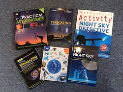 Selection of stargazing books, given our new International Dark Sky Park status!