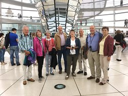 In the glas dome of the Reichstag