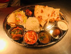 How about this yummy Indian thali ( veg/non-veg) for lunch ?? Also aloo puri tarkari available on your high demand . A perfect cousine for l