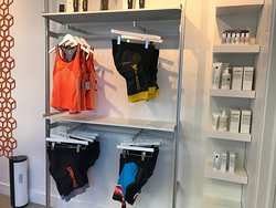 Retail Area: Spinning® clothing and Malin+Goetz Skincare
