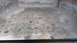 The detailed mosaic tile work on the floors was everywhere