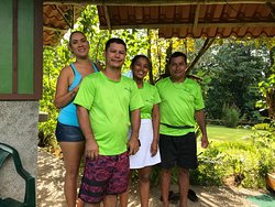 Some of the staff Laura, Erick and Francisca (owners) and Evelio