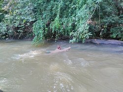 Swimming in a river