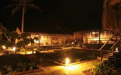 Our stunning courtyard at night
