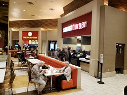 Smash Burger in the Ceasars Palace food court.