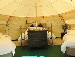 Lotus Belle Tent set up for 4 persons