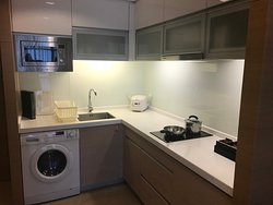 Great kitchen area with modern equipment