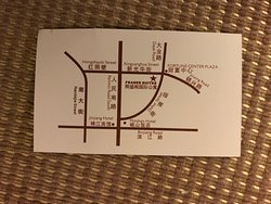 Taxi card with map of the location