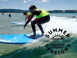Summer Sessions' annual Grom Surf Comp at Omaha Beach.