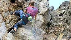 Isa, our Rock Climbing Instructor.