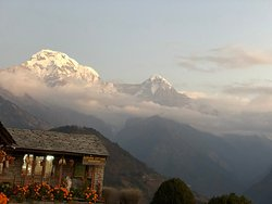 View of Annapurna South from our lodge, Gurung Cottage, Ghandruk