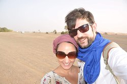 we are very happy to visit desert