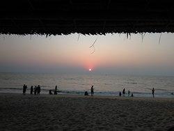 Sunset view from the beach resort.