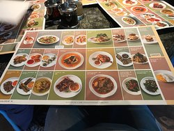 Menu with pictures is always a big plus