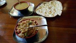 Paneer butter masala and cheese kottu-rotti.