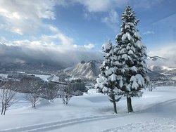 美しい雪景色とフレンチディナー、ひだまりの湯に癒されました