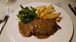 Bovette Steak with a pepper sauce & Watercress - looks simple and pub like but was absolutely gorgeous
