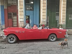 A picture Gabriel took of our family - half hour in the cool convertable was included in our tour package