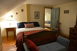 The first bedroom of the Alvord Suite.