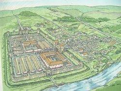 évocation du fort romain de Piercebridge
