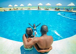 What a view right? Just one of the 3 swimming pools available at #theonewatamu