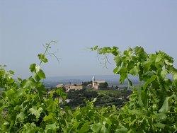 Le village de Cairanne, au cœur des vignes.